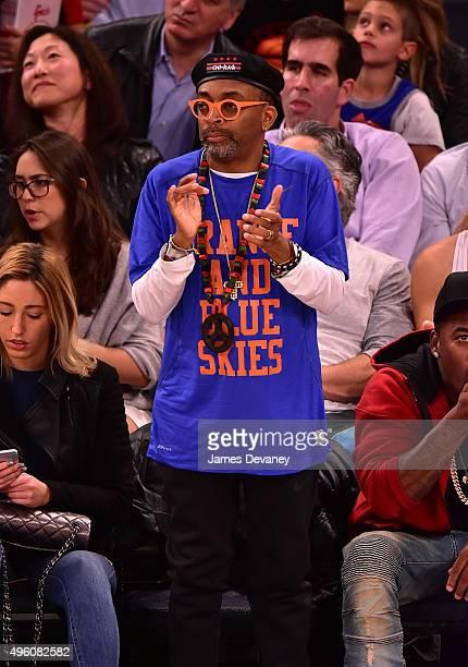 Spike Lee attends New York Knicks vs Milwaukee Bucks game at Madison Square Garden on November 6 2015 in New York City