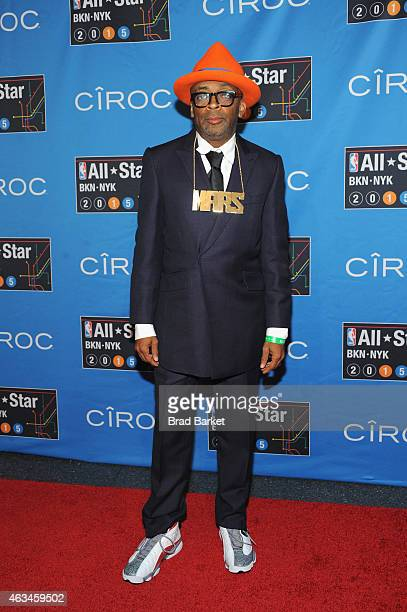 Spike Lee attends State Farm AllStar Saturday Night NBA AllStar Weekend 2015 at Barclays Center on February 14 2015 in New York New York