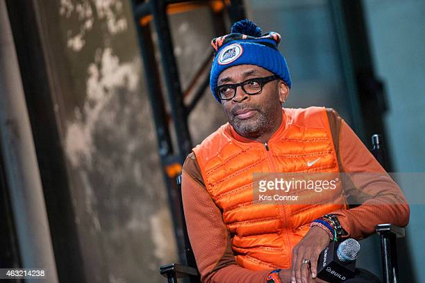 Spike Lee attends the AOL BUILD Speaker Series at AOL Studios In New York on February 11 2015 in New York City
