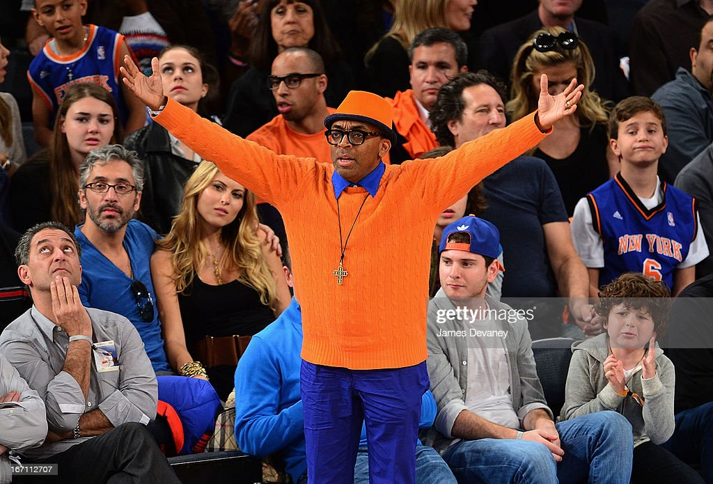 <a gi-track='captionPersonalityLinkClicked' href=/galleries/search?phrase=Spike+Lee&family=editorial&specificpeople=156419 ng-click='$event.stopPropagation()'>Spike Lee</a> attends the Boston Celtics vs New York Knicks Playoff Game at Madison Square Garden on April 20, 2013 in New York City.
