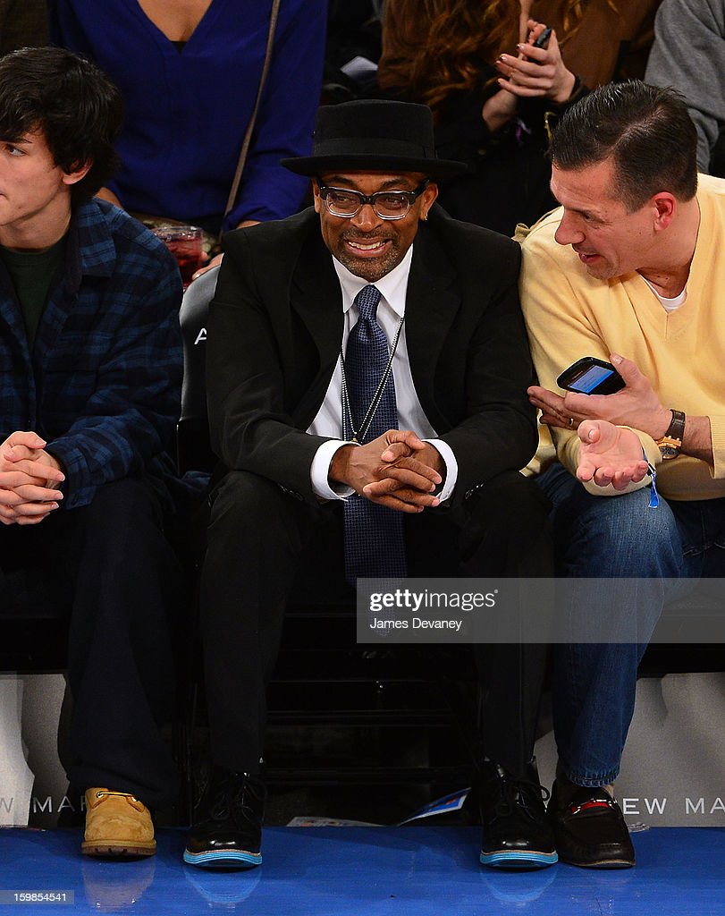 <a gi-track='captionPersonalityLinkClicked' href=/galleries/search?phrase=Spike+Lee&family=editorial&specificpeople=156419 ng-click='$event.stopPropagation()'>Spike Lee</a> attends the Brooklyn Nets vs New York Knicks game at Madison Square Garden on January 21, 2013 in New York City.