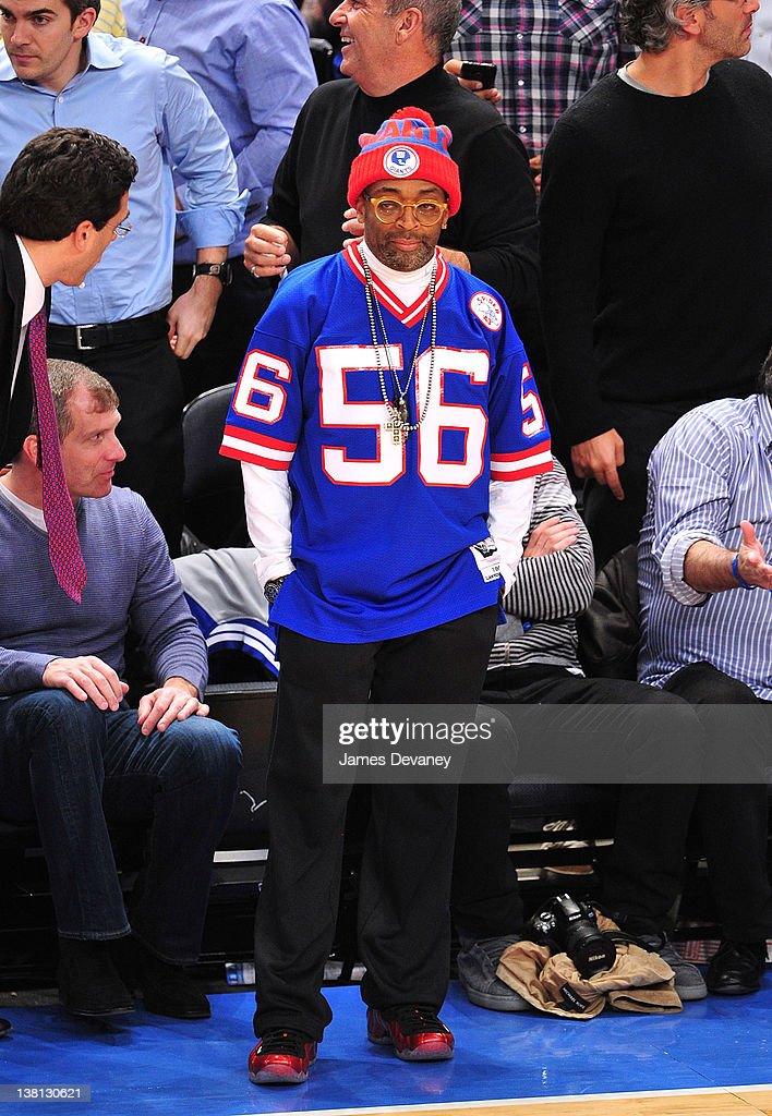 Spike Lee attends the Chicago Bulls VS New York Knicks at Madison Square Garden on February 2, 2012 in New York City.