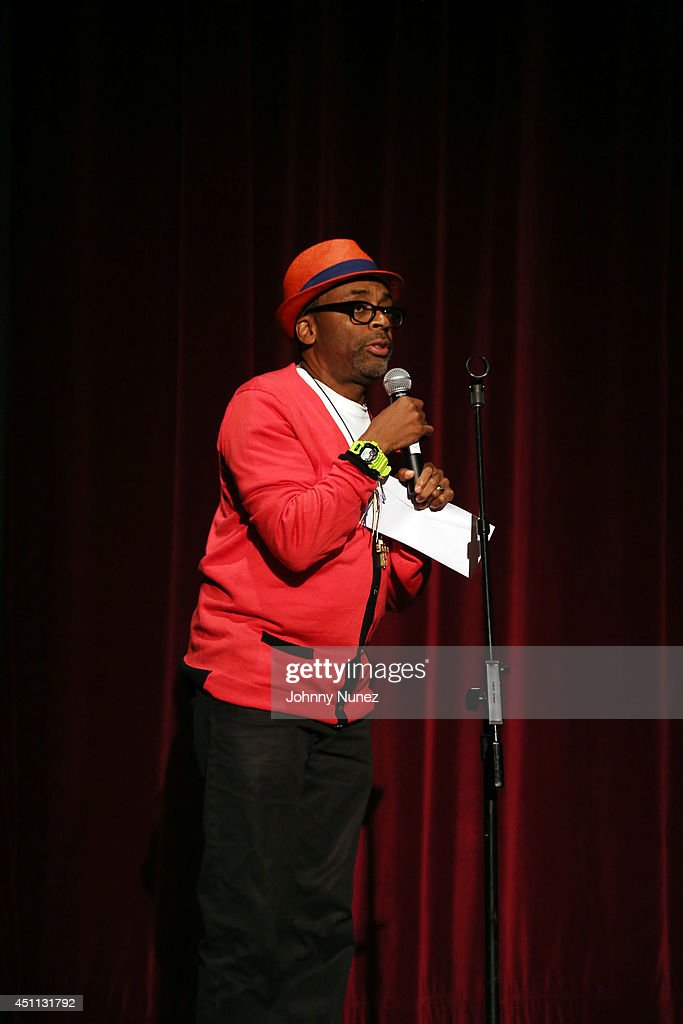 <a gi-track='captionPersonalityLinkClicked' href=/galleries/search?phrase=Spike+Lee&family=editorial&specificpeople=156419 ng-click='$event.stopPropagation()'>Spike Lee</a> attends the 'Da Sweet Blood Of Jesus' cast and crew special screening at DGA Theater on June 23, 2014 in New York City.