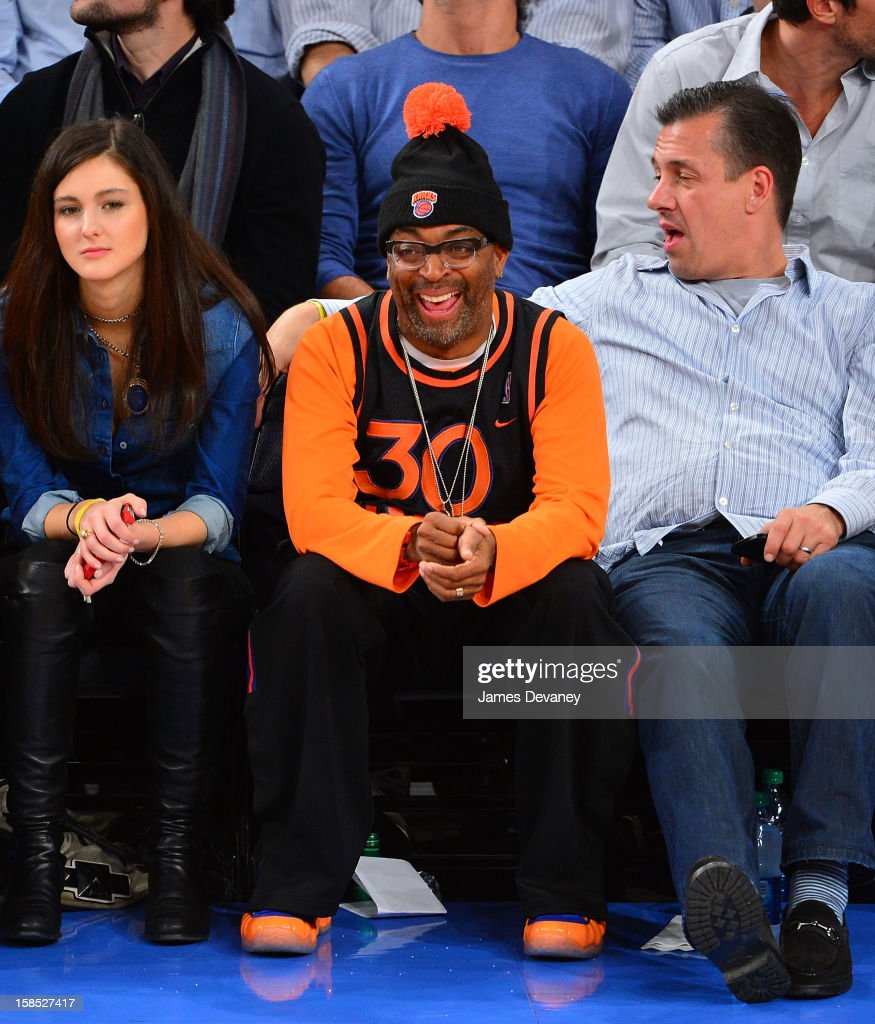<a gi-track='captionPersonalityLinkClicked' href=/galleries/search?phrase=Spike+Lee&family=editorial&specificpeople=156419 ng-click='$event.stopPropagation()'>Spike Lee</a> attends the Houston Rockets vs New York Knicks game at Madison Square Garden on December 17, 2012 in New York City.