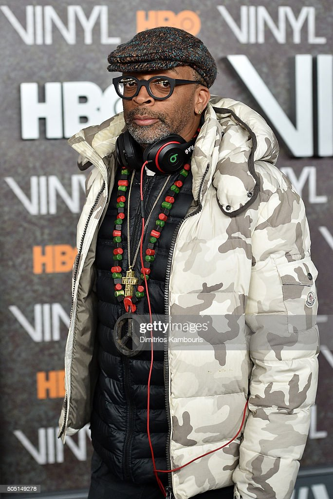 Spike Lee attends the New York premiere of 'Vinyl' at Ziegfeld Theatre on January 15, 2016 in New York City.