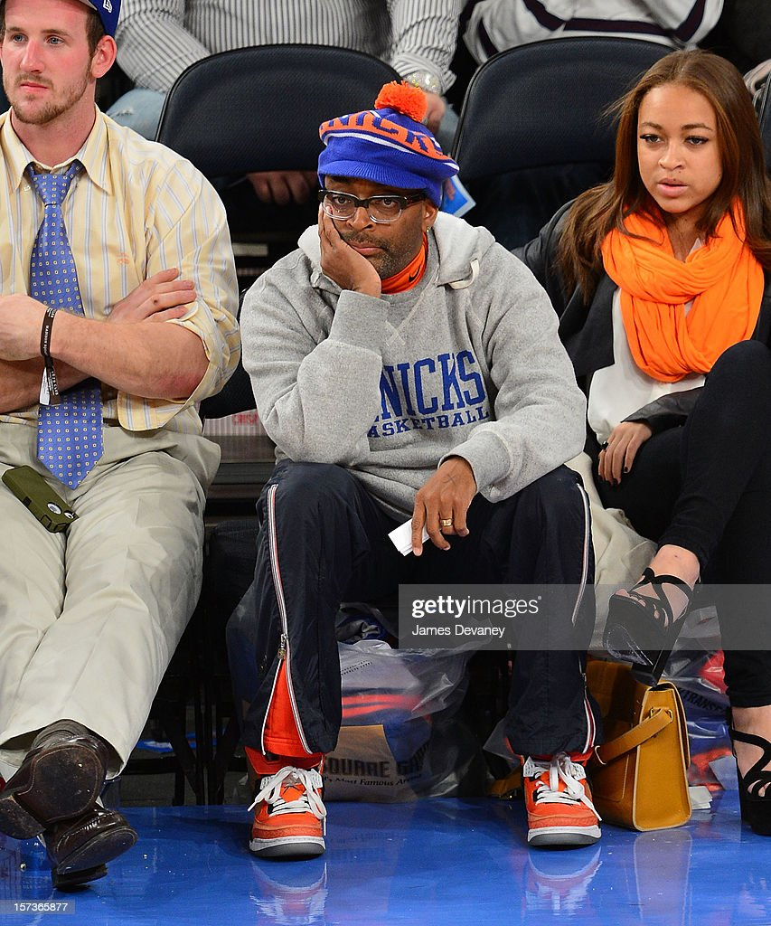 <a gi-track='captionPersonalityLinkClicked' href=/galleries/search?phrase=Spike+Lee&family=editorial&specificpeople=156419 ng-click='$event.stopPropagation()'>Spike Lee</a> attends the Phoenix Suns vs New York Knicks game at Madison Square Garden on December 2, 2012 in New York City.