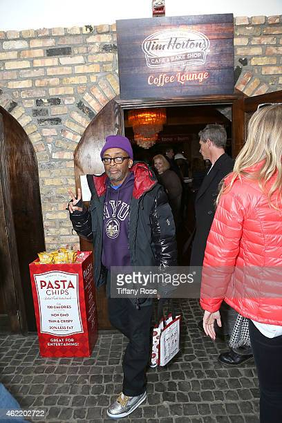 Spike Lee attends the Tim Hortons Cafe and Bake Shop at Chefdance Media Lounge on January 25 2015 in Park City Utah