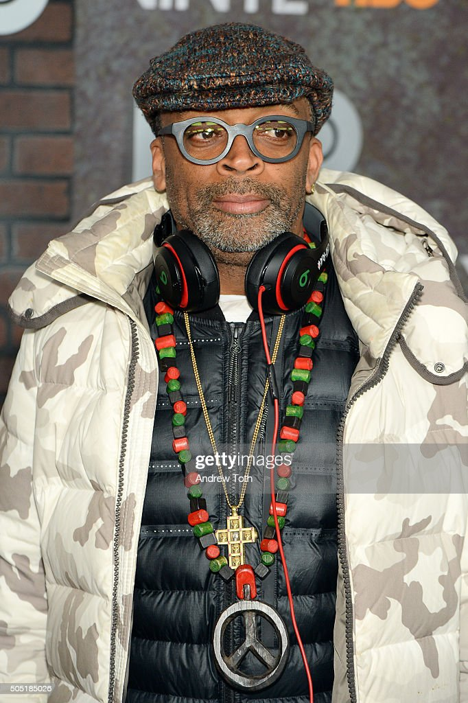 Spike Lee attends the 'Vinyl' New York premiere at Ziegfeld Theatre on January 15, 2016 in New York City.