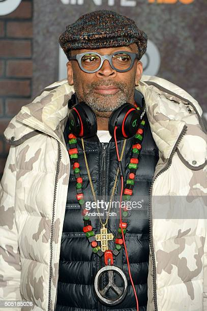 Spike Lee attends the 'Vinyl' New York premiere at Ziegfeld Theatre on January 15 2016 in New York City