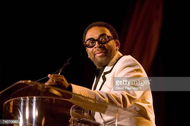 Spike Lee receives the Film Society Directing Award at the San Francisco International Film Festival awards night at the Westin St Francis Hotel on...