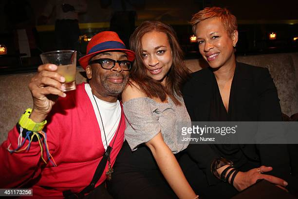 Spike Lee Satchel Lee and Tonya Lewis Lee attend 'Da Sweet Blood Of Jesus' cast and crew special screening after party at Hudson Hotel on June 23...