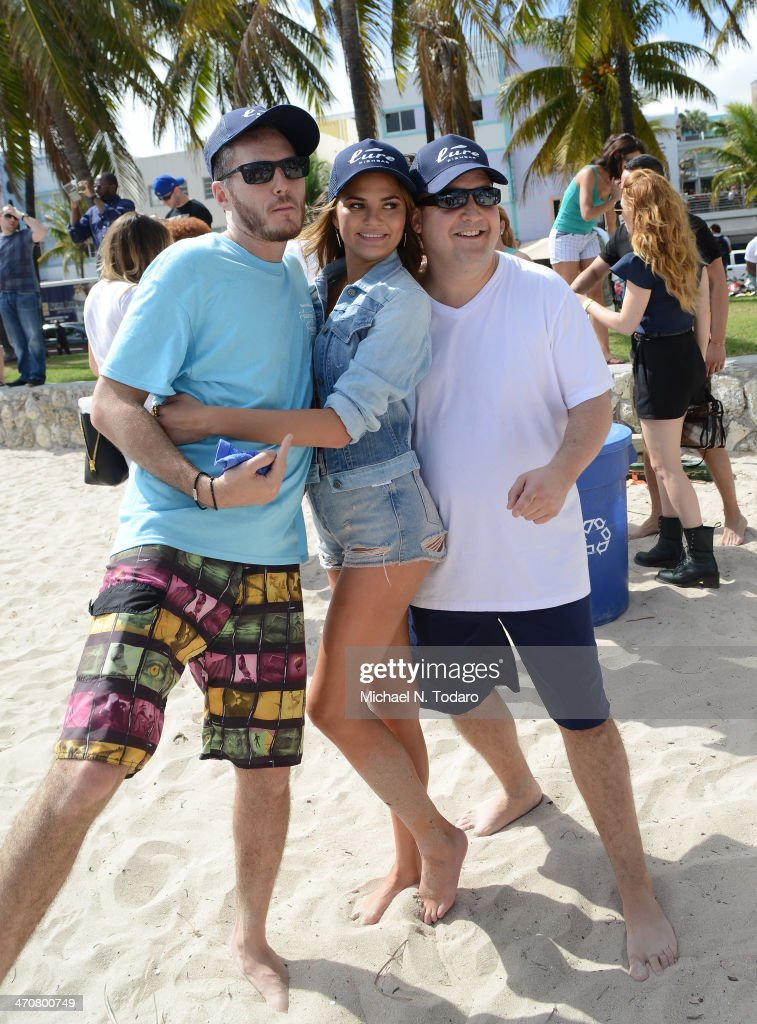 Spike Mendelsohn and <a gi-track='captionPersonalityLinkClicked' href=/galleries/search?phrase=Christine+Teigen&family=editorial&specificpeople=4583768 ng-click='$event.stopPropagation()'>Christine Teigen</a> attend Chefs + Models Volleyball Tournament during the Food Network South Beach Wine & Food Festival on February 20, 2014 in Miami, Florida.