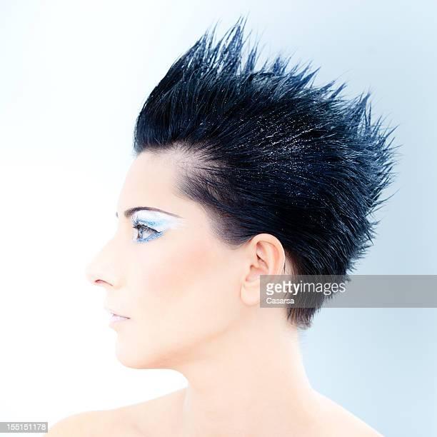 Taglio di capelli a spillo