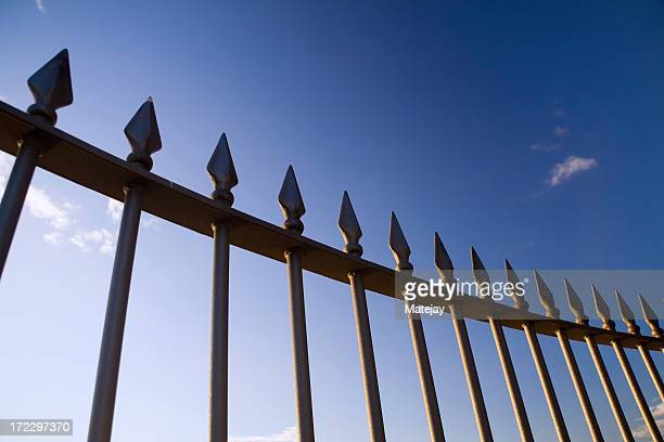 Spiky iron fence