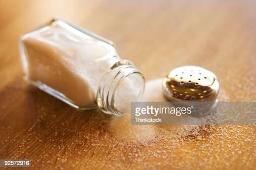 Spilled salt shaker