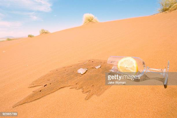 Spilled water on a sand dune