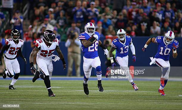 J Spiller of the Buffalo Bills runs for 77 yards against the Atlanta Falcons in the first half at Rogers Centre on December 1 2013 in Toronto Ontario