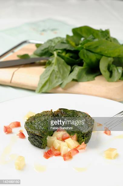 Spinach and Pecorino Flan
