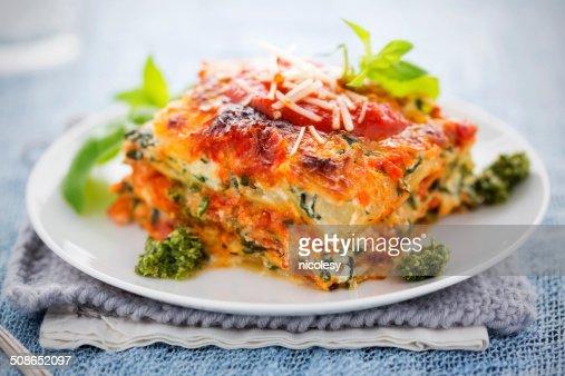 Spinach and Ricotta Lasagna : Stock Photo