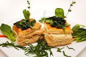 Spinach Tart Vol au Vent