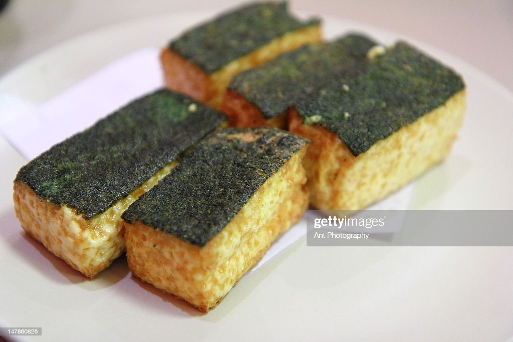 Spinach Tofu : Stock Photo