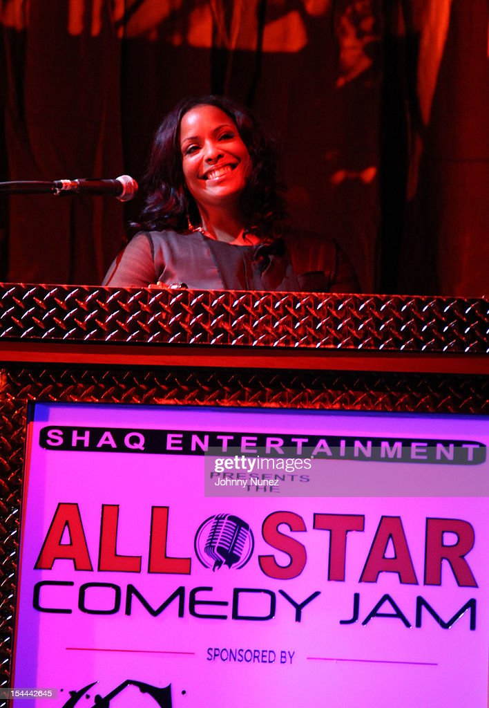 DJ <a gi-track='captionPersonalityLinkClicked' href=/galleries/search?phrase=Spinderella&family=editorial&specificpeople=984708 ng-click='$event.stopPropagation()'>Spinderella</a> attends Shaquille O'Neal's All Star Comedy Jam at the Best Buy Theater on October 19, 2012 in New York City.
