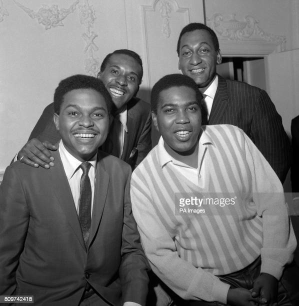 Spinning back into the London scene again are The Four Tops the popgroup from America seen here at Mayfair Hotel London Abdul Fakir Levi Stubbs...