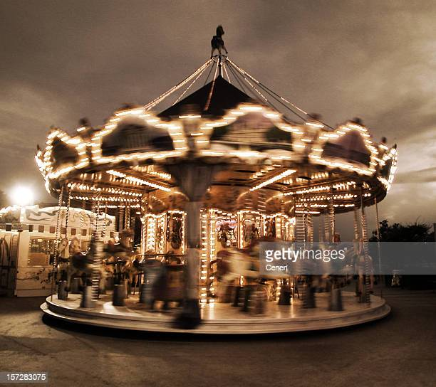 spinning carousel in Paris