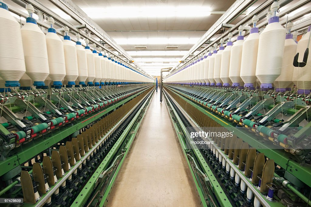 Spinning factory machinery : Stock Photo