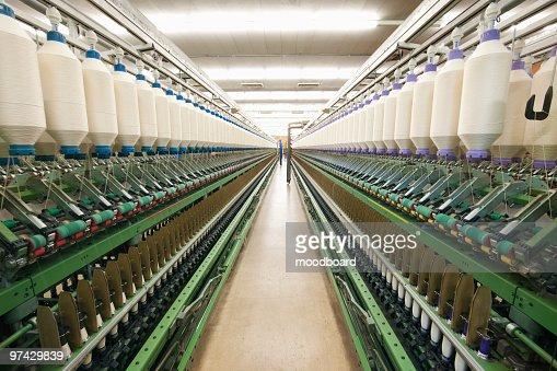 Spinning factory machinery : Stock Photo