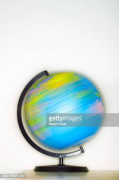 Spinning globe (blurred motion)