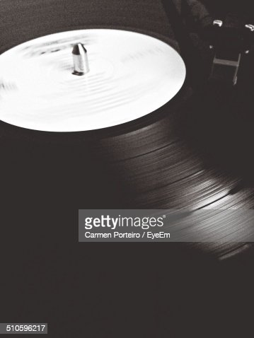LP Spinning on Record Player