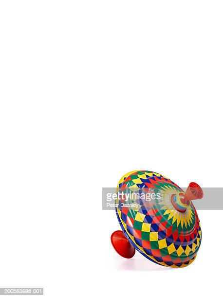 Spinning top on white background