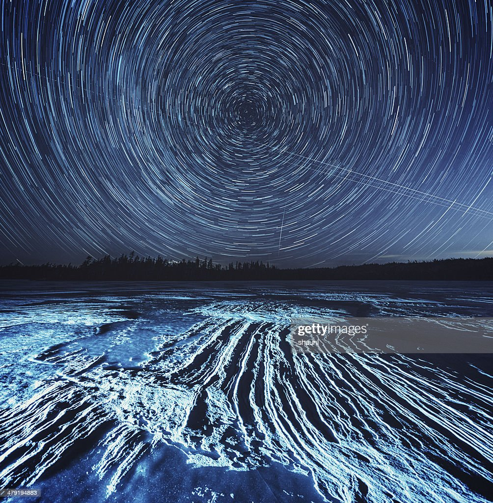 Spinning Winter Night