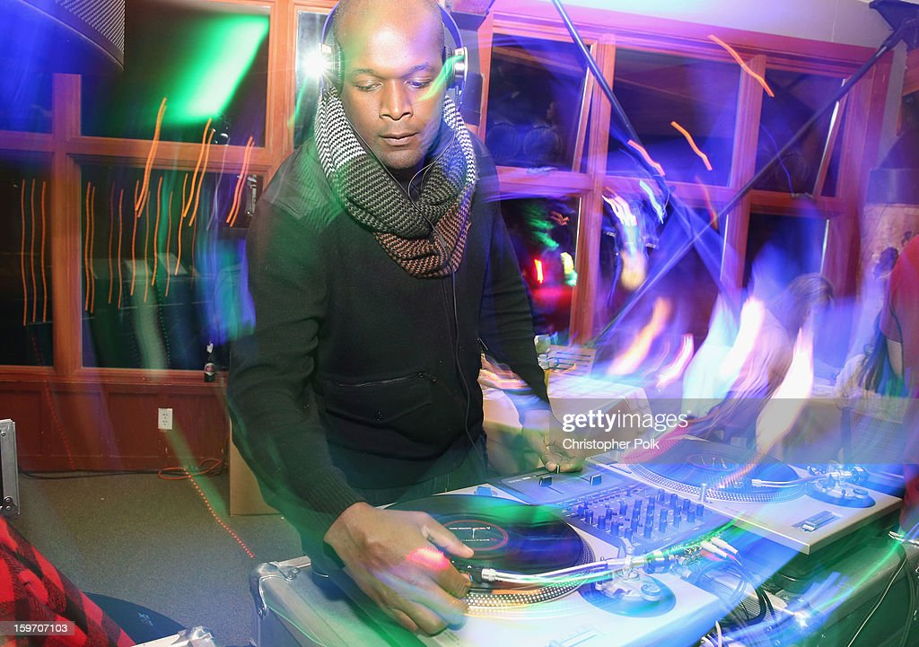 A DJ spins at Brita at Sundance Film Festival on January 18, 2013 in Park City, Utah.