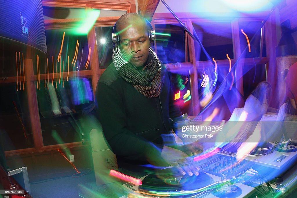 A DJ spins at Brita at Sundance Film Festival on January 18, 2013 in Park City, Utah.