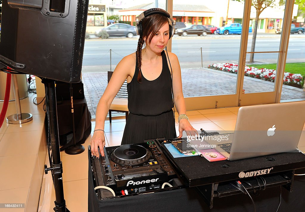 DJ spins at the unveiling of the new Maserati Quattroporte at Ferrari Maserati Silicon Valley on April 3, 2013 in Redwood City, California.