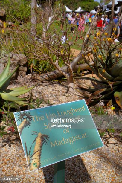 Spiny Forest of Madagascar sign at Fairchild Tropical Gardens