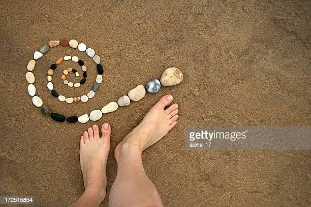 Spirale et des pieds