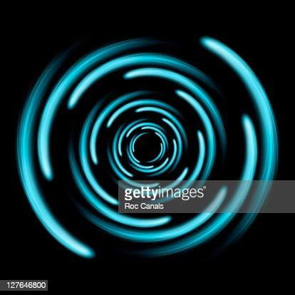 Spiral blue lights : Foto de stock