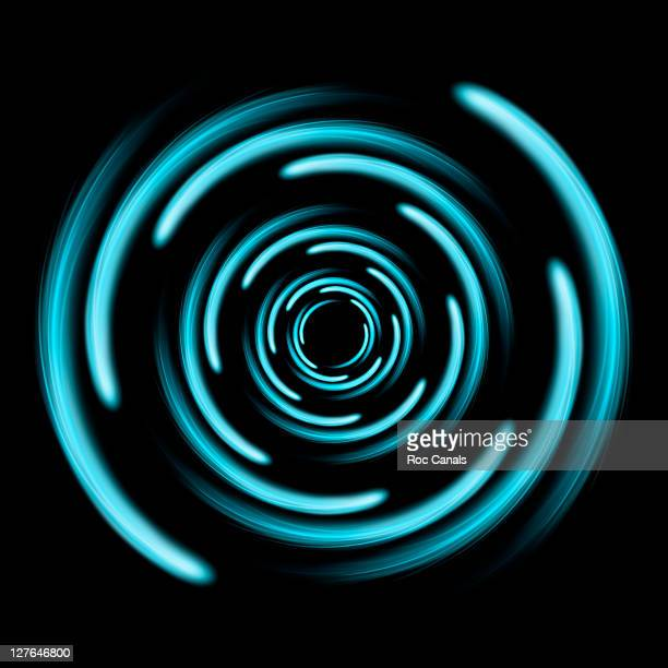 Spiral blue lights
