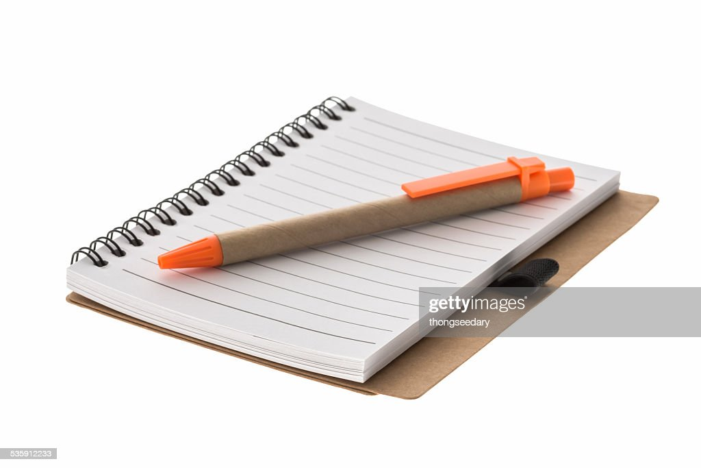 spiral book and pen : Stock Photo