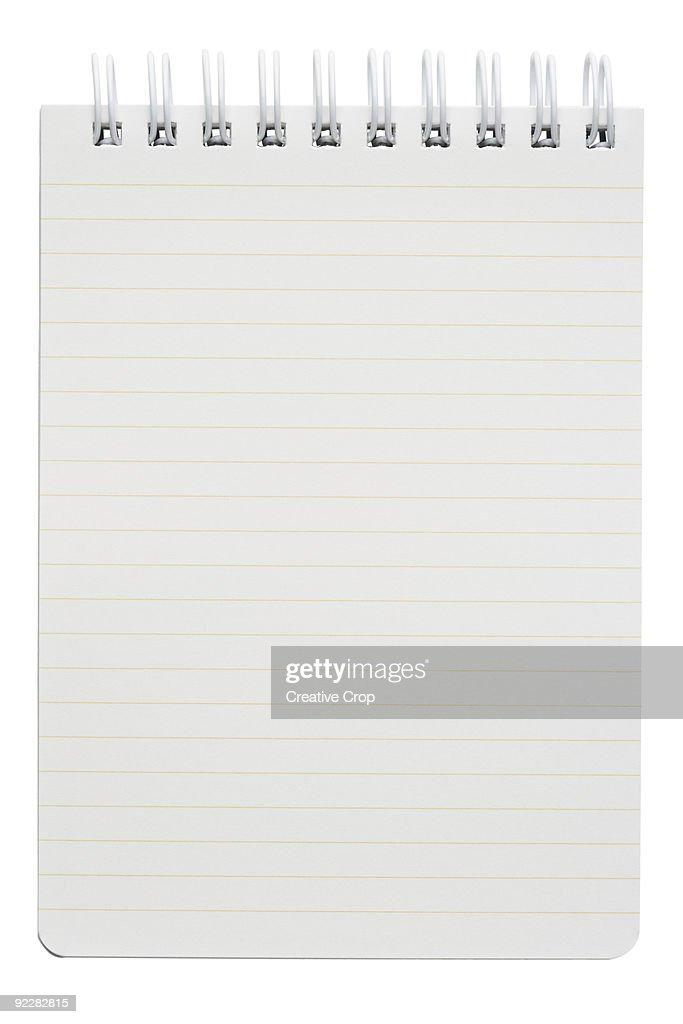 Spiral bound writing pad