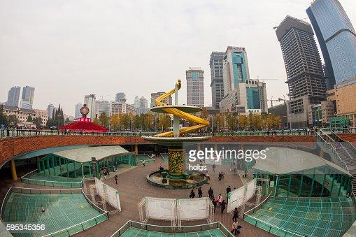 Spiral Fountain in Chengdu, China
