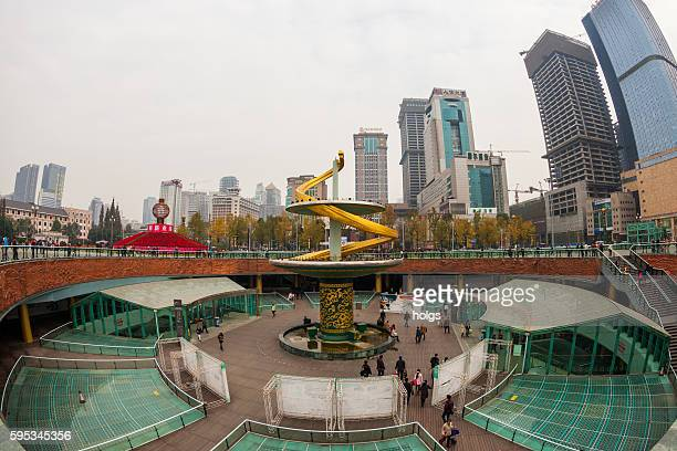 Spiral Fountain in Chengdu, China