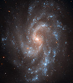 Spiral Galaxy NGC 5584. Amongst the myriad stars in spiral galaxy NGC 5584 are pulsating stars called Cepheid variables and one recent Type Ia supernova, a special class of exploding stars.