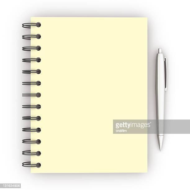 Spiralblock und Stift