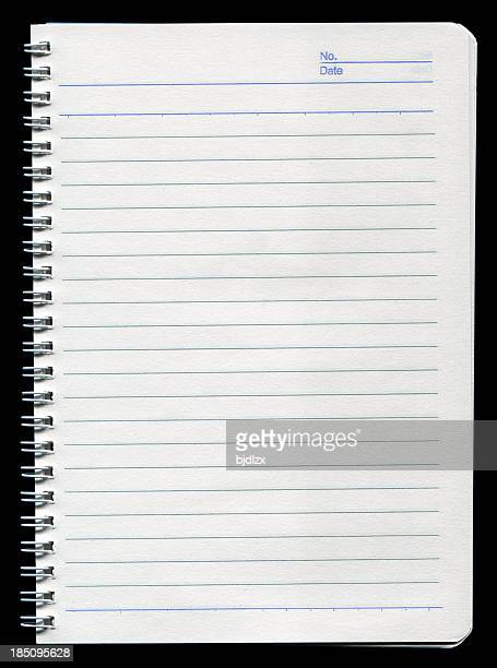 Spiral notebook on white background