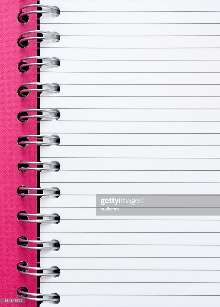 spiral notebook paper textured background stock photo