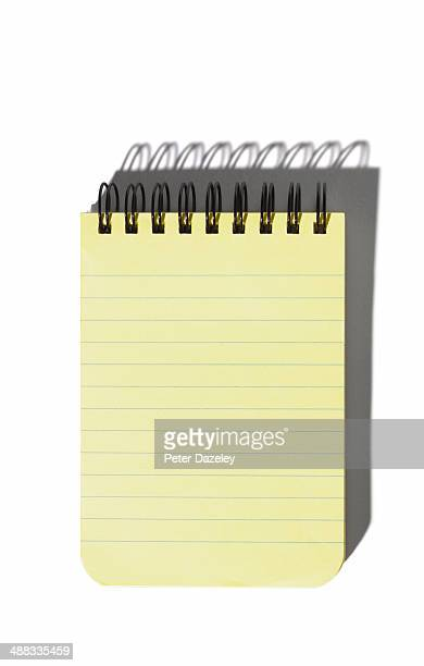Spiral note-pad with copy space